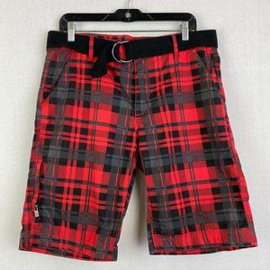 GUESS Red Plaid Short